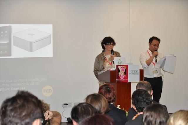"""Duo de choc Régine & ZhiFeng Zao pour une conférence """"design sensoriel design soutenable"""""""