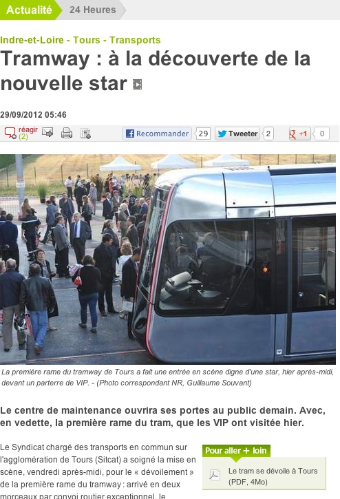 Article NR Tram Tours 29-09-12