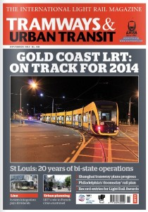 couverture article RCP tramway and urban transit 12-2013